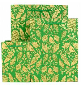 LoveVivid Medium Holiday Gift Bag Ruskin Green