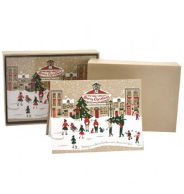 LoveVivid Christmas Town A2 Boxed Notecards Set of 8