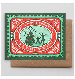 Hammerpress Festive Christmas Stamp A2 Notecard