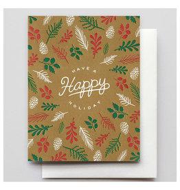 Hammerpress Forest Floor A2 Christmas Notecard