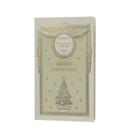 Oblation Papers & Press Merry Christmas English Lit Collection Letterpress Christmas Box of 6 Notecards