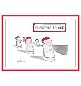 The New Yorker Christmas Island A7 Notecard