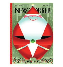The New Yorker Giant Santa Cover A7 Christmas Notecard