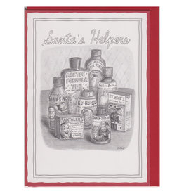 The New Yorker Santa's Helpers A7 Christmas Notecard
