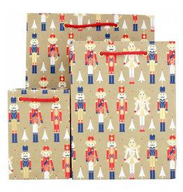 LoveVivid Small Holiday Gift Bag Nutcracker Kraft