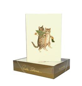 Paula Skene Designs Cat & Mouse Christmas Card Box of 8 Notecards