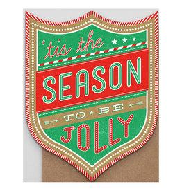 Hammerpress Tis the Season Badge A2 Christmas Notecard