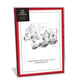 The New Yorker Run It by Legal Xmas Christmas Box of 8 Notecards