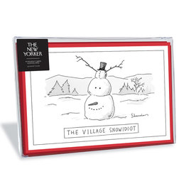 The New Yorker Village Snowidiot Christmas Box of 8 Notecards