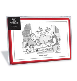 The New Yorker Another Round Christmas Box of 8 Notecards