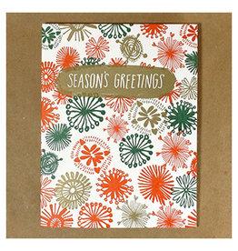 Egg Press Snowflake Season's Greetings A2 Christmas Notecard