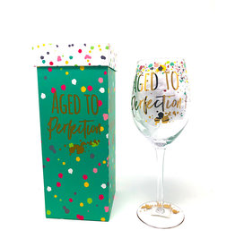 Evergreen Wine Glass Aged To Perfection