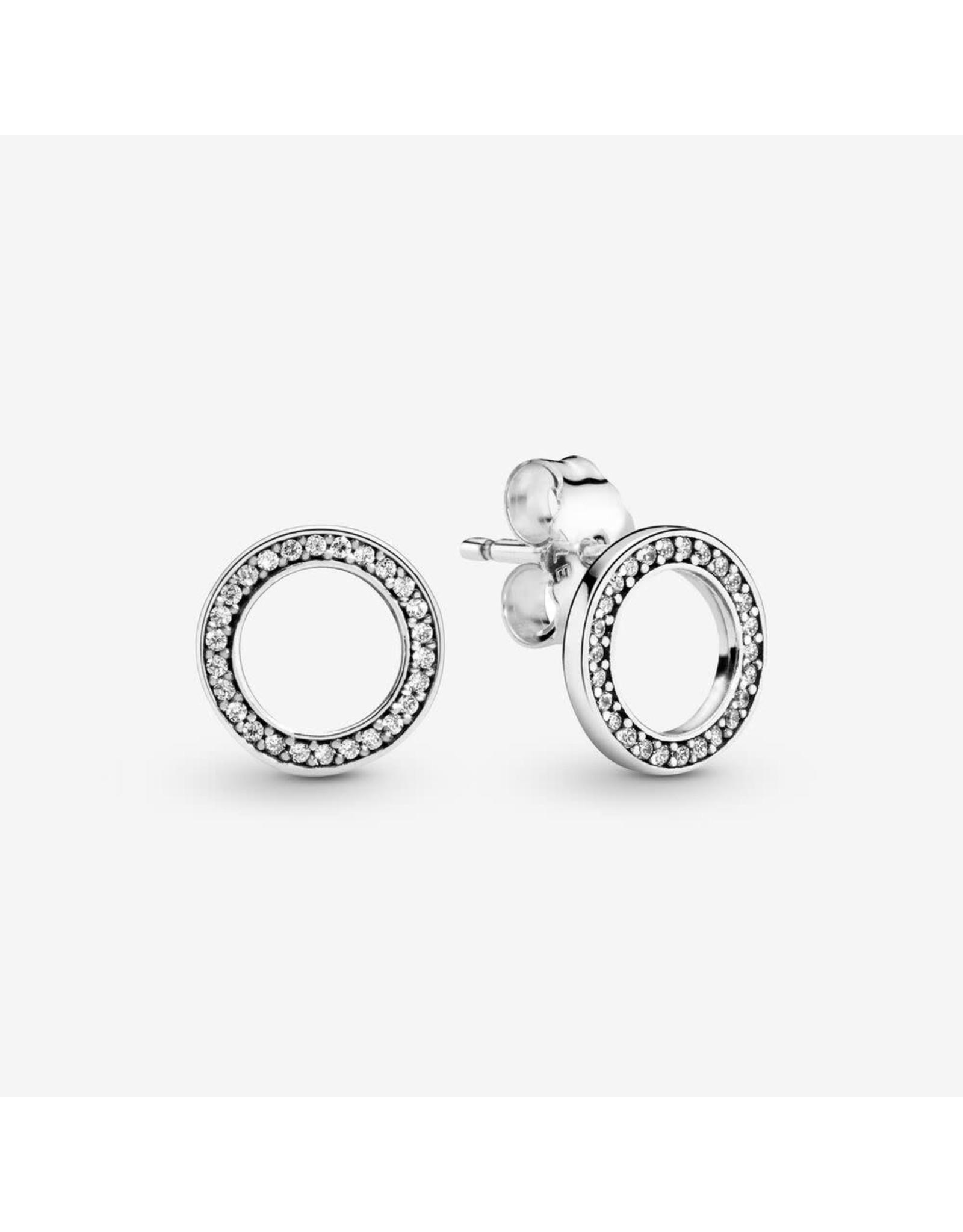 Pandora Pandora Earrings,290585CZ, Forever Stud Clear CZ