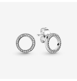 Pandora Pandora Forever Stud Earrings With Clear CZ