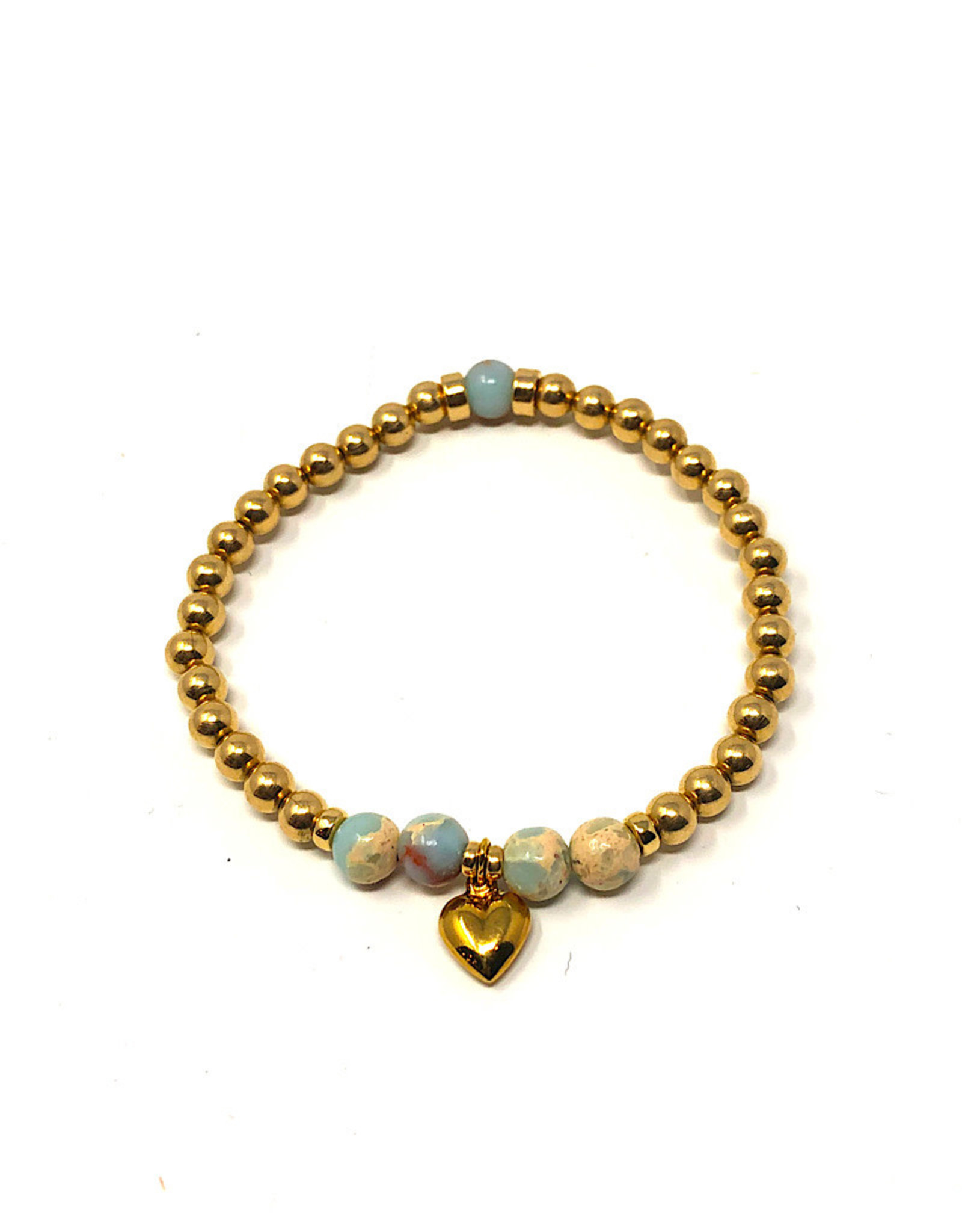 Beblue beblue Gold Bracelet with heart pendant