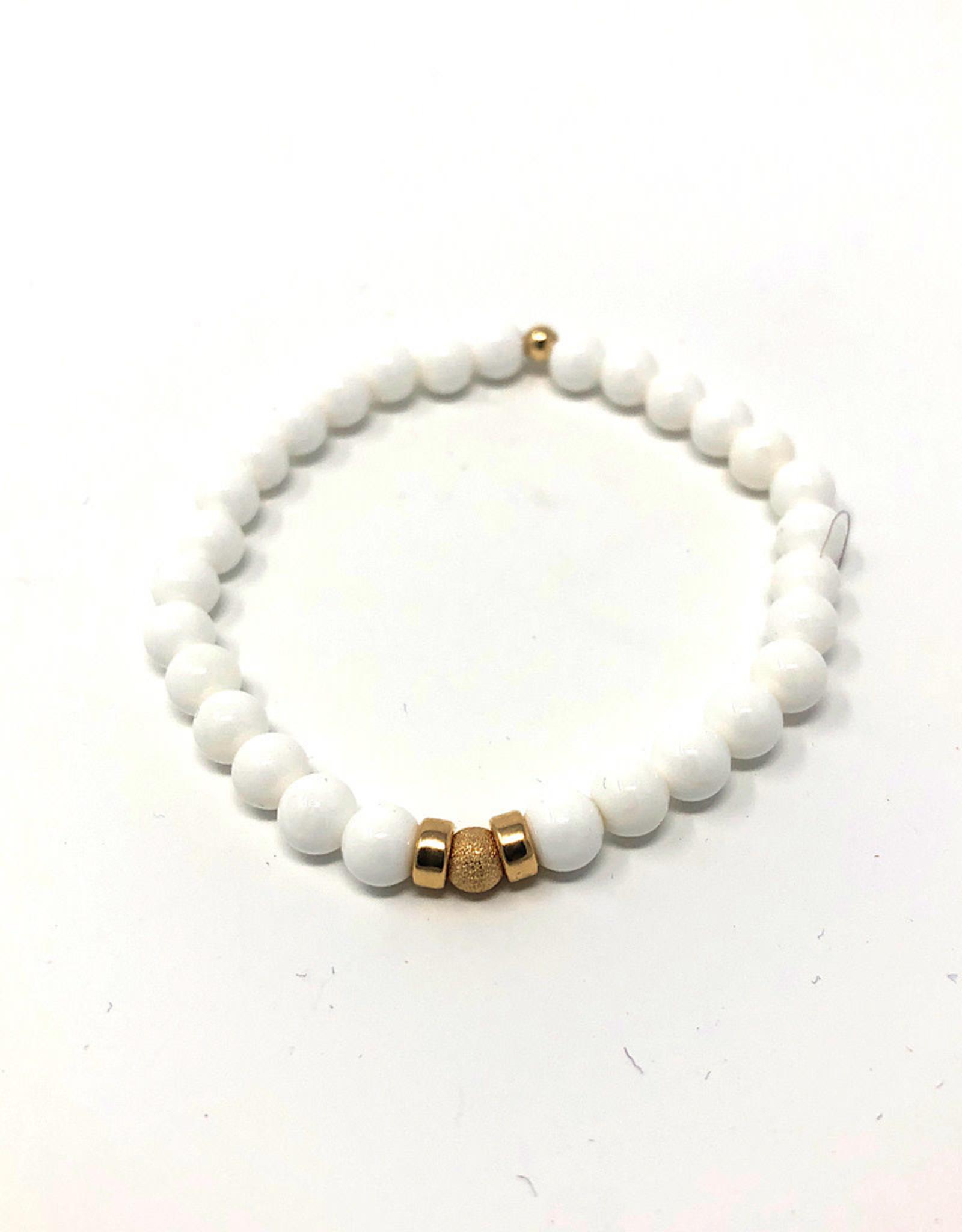 Beblue beblue Bracelet White Fine Stones & Gold