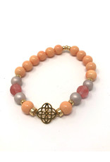 Beblue beblue Peach Bracelet pearl & gold