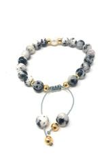 Beblue beblue  Grey Mix Bracelet Pearl