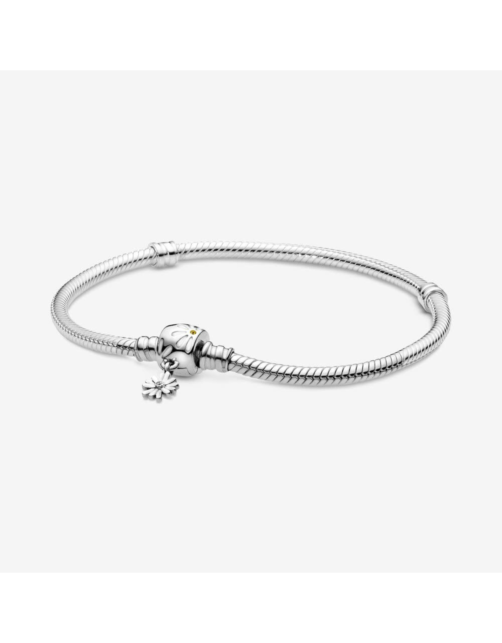 Pandora Pandora Bracelet,598776C01, Daisy Flower Clasp Snack Chain