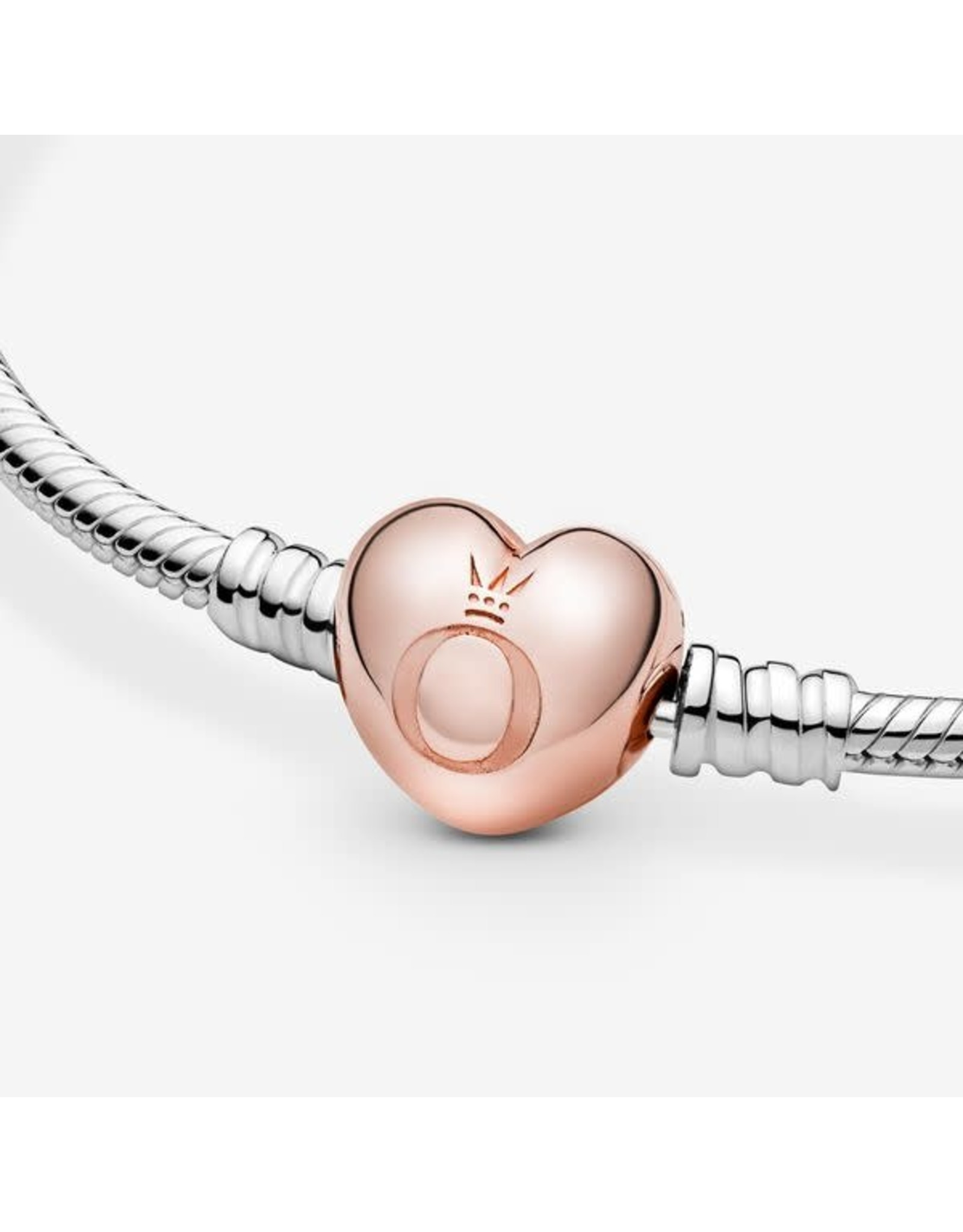 Pandora Pandora Sterling Silver With Rose Gold Heart Clasp
