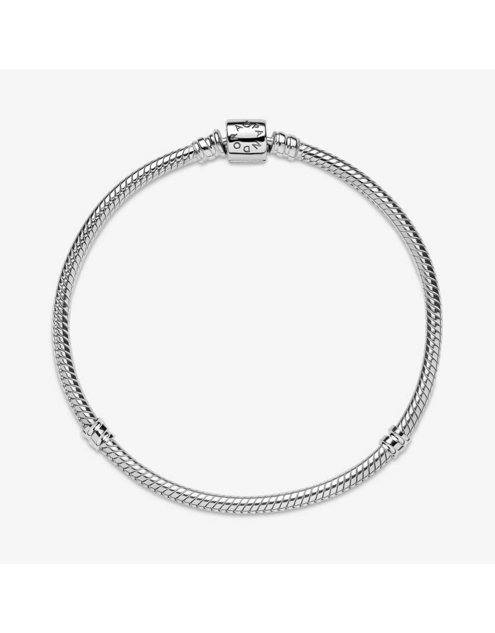 Pandora Pandora Moments Barrel Clasp Snake Chain Bracelet Sterling Silver