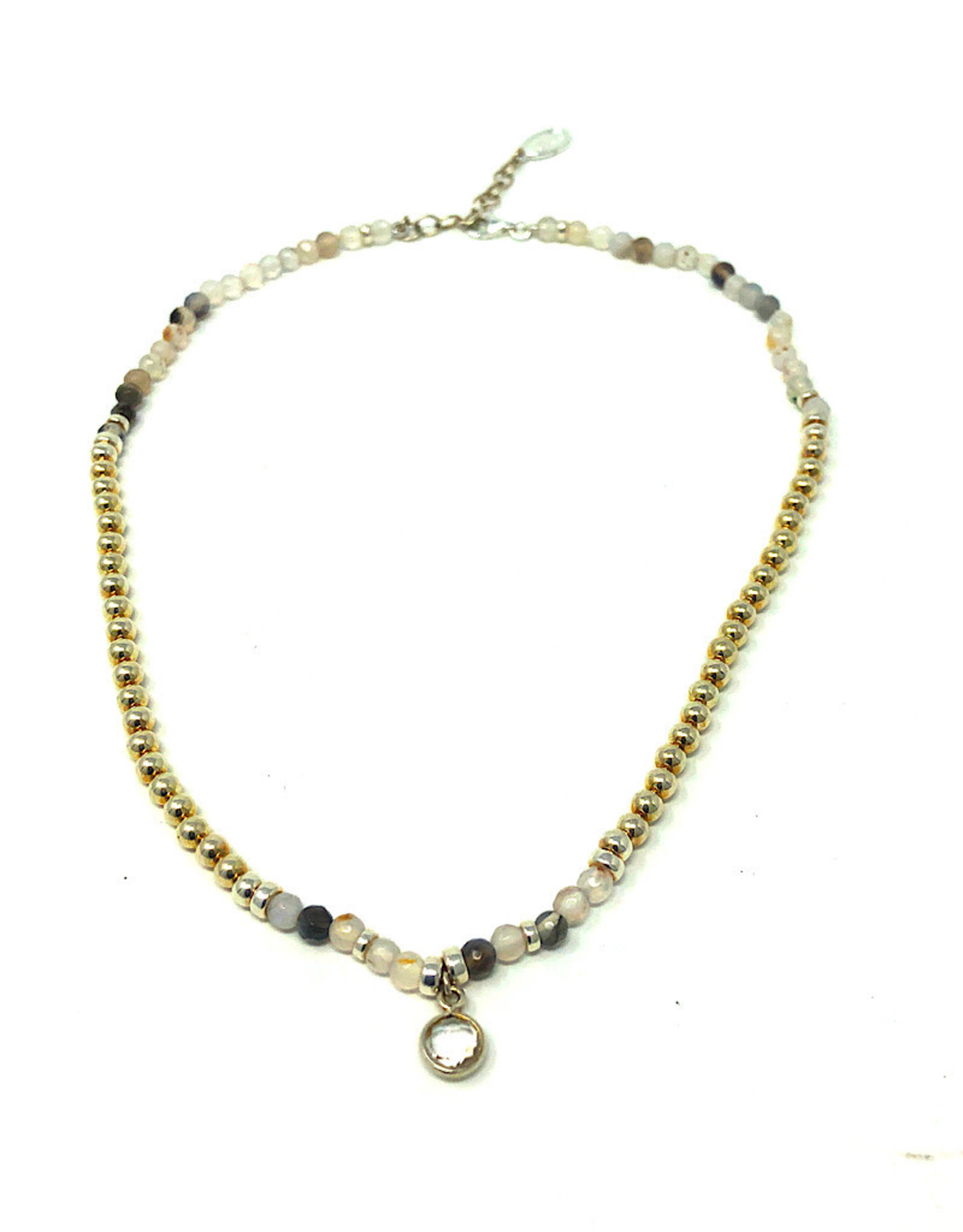 Beblue Silver 925. Necklace with Clear Pendant