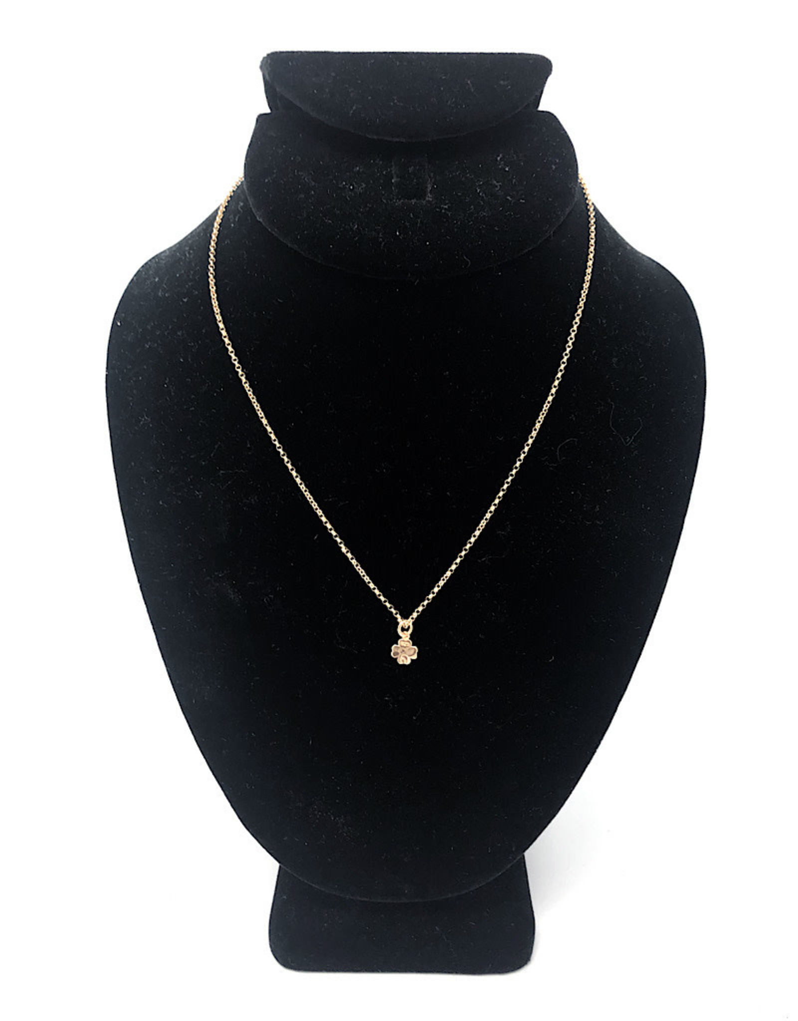 Beblue Gold Necklace Clover