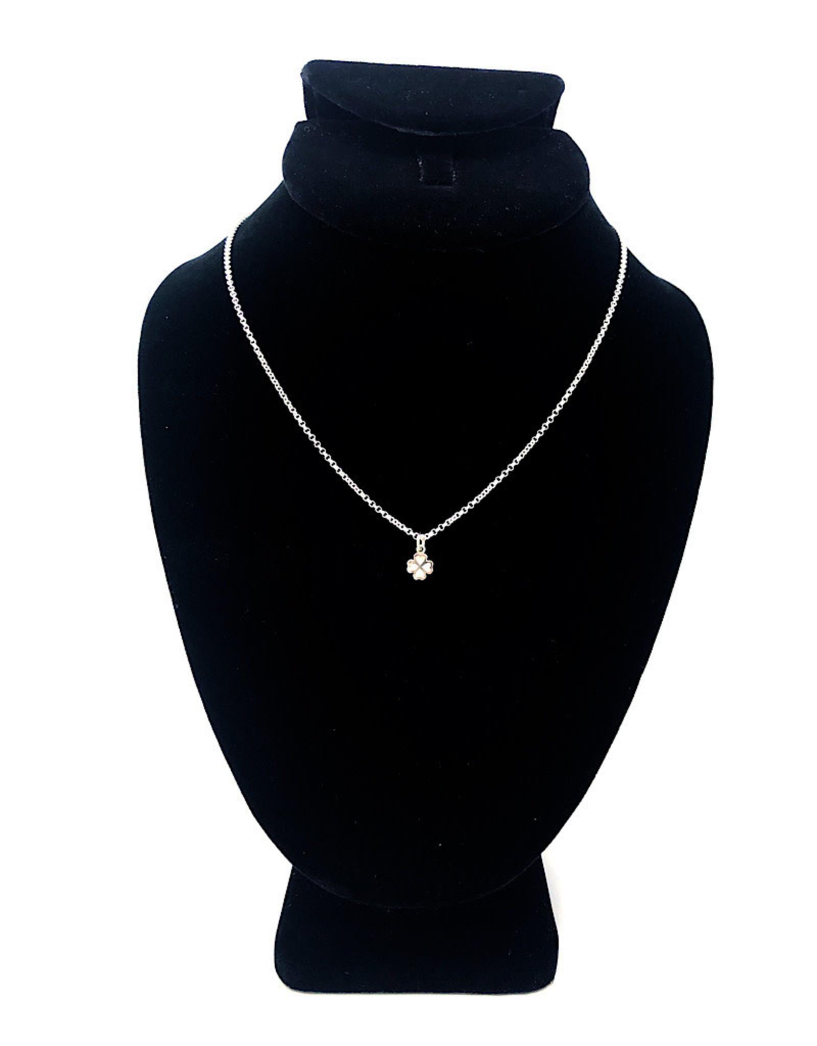 Beblue Silver Necklace Clover