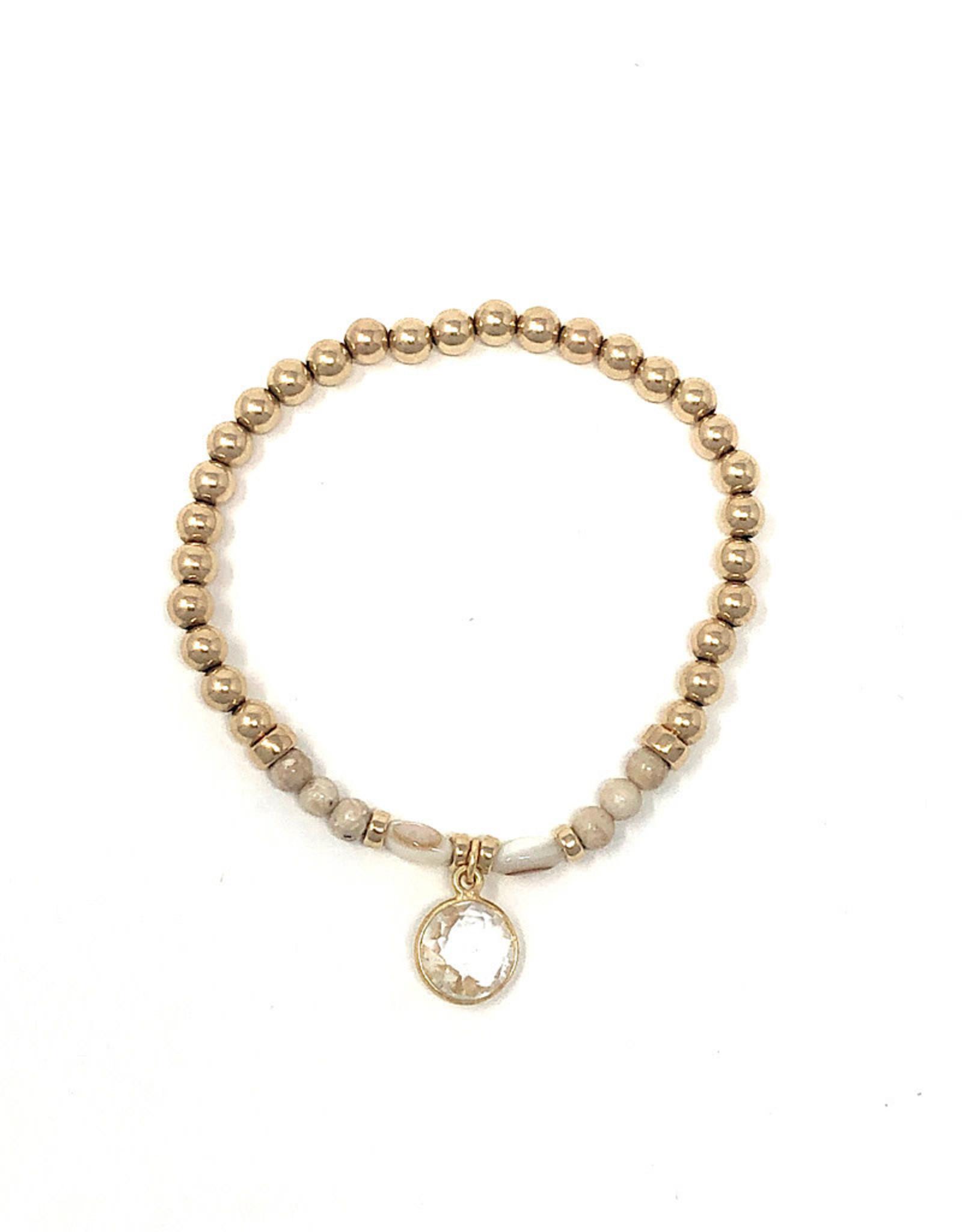 Beblue beblue Bracelet Gold Filled with Clear Pendant