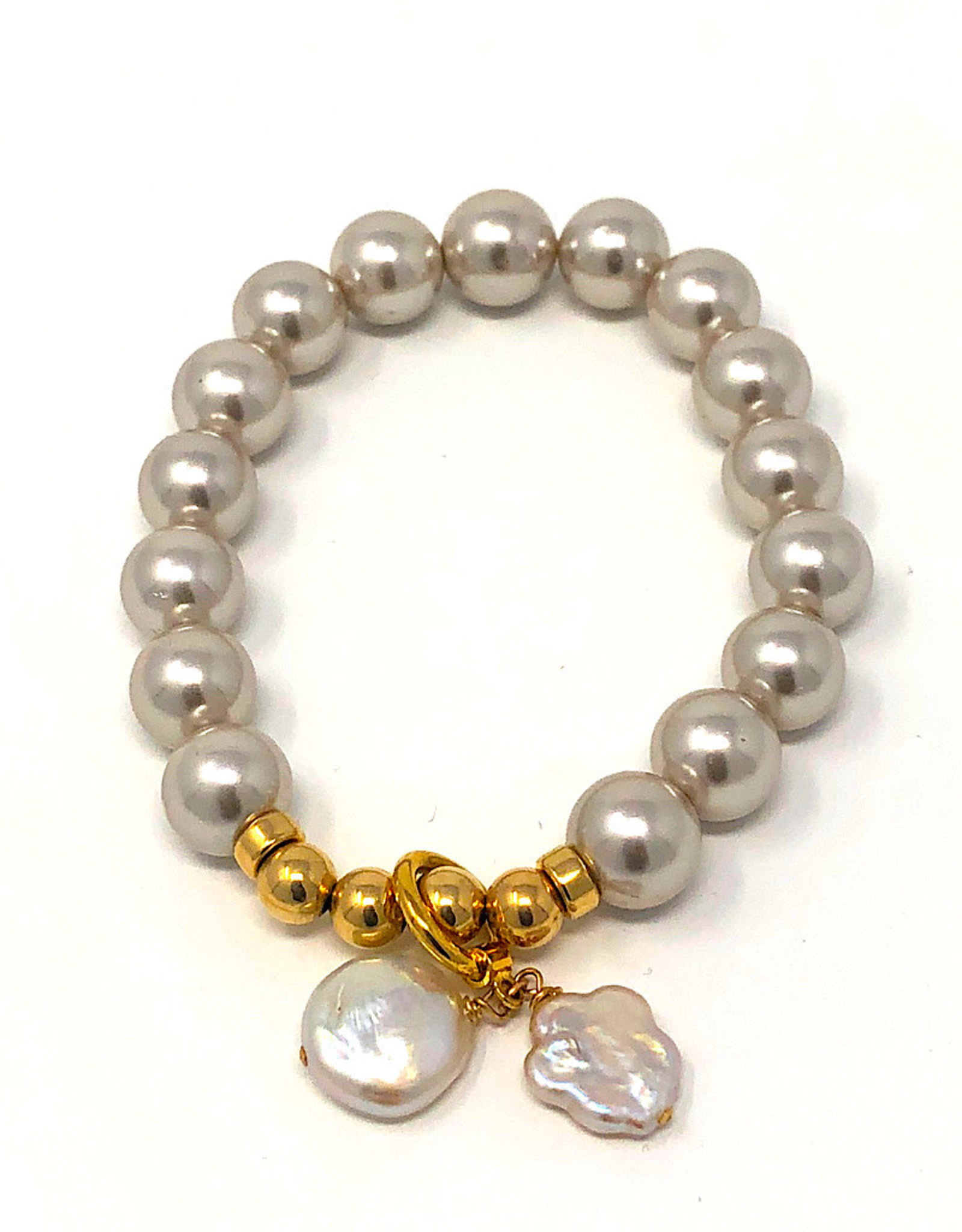 Beblue Bracelet Grey Pearls