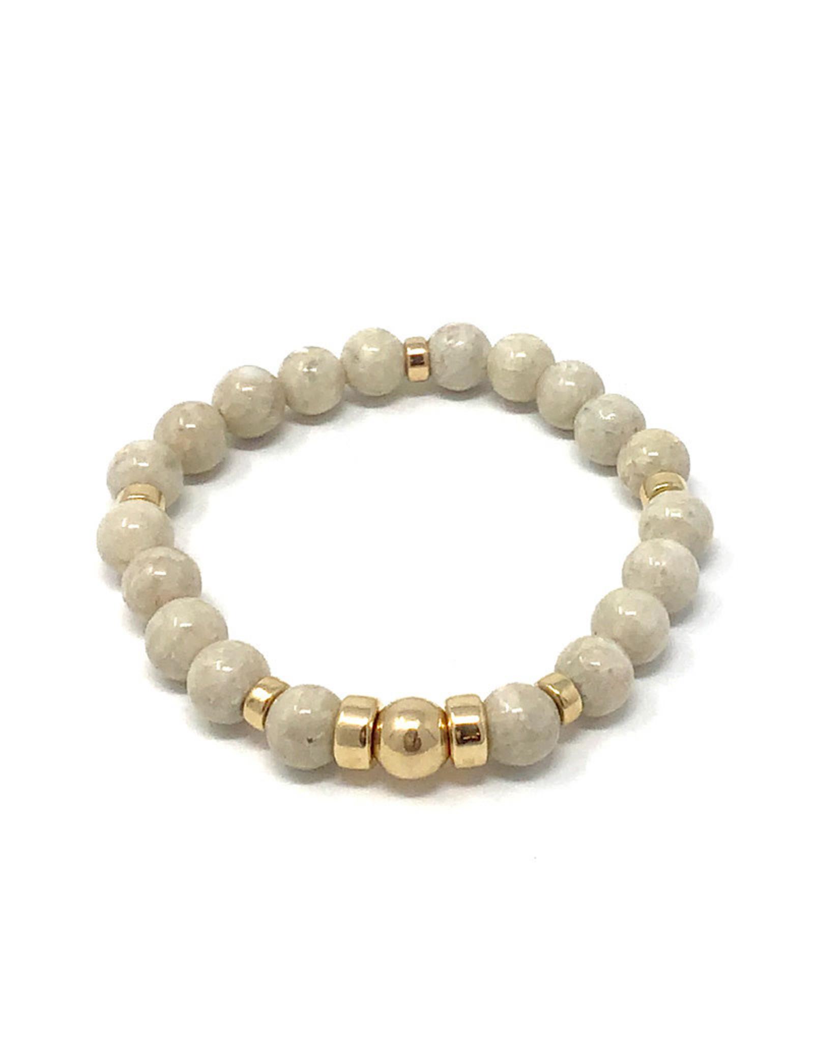Beblue Beige Bracelet Gold Filled