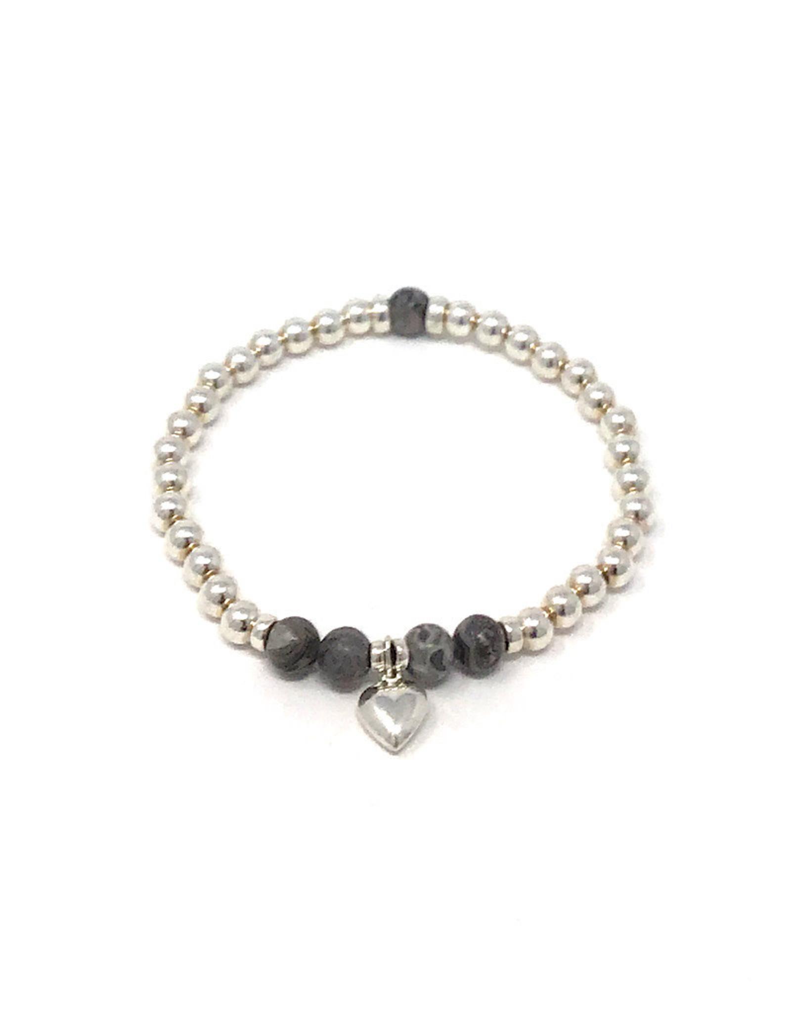 Beblue beblue Silver Bracelet with heart pendant