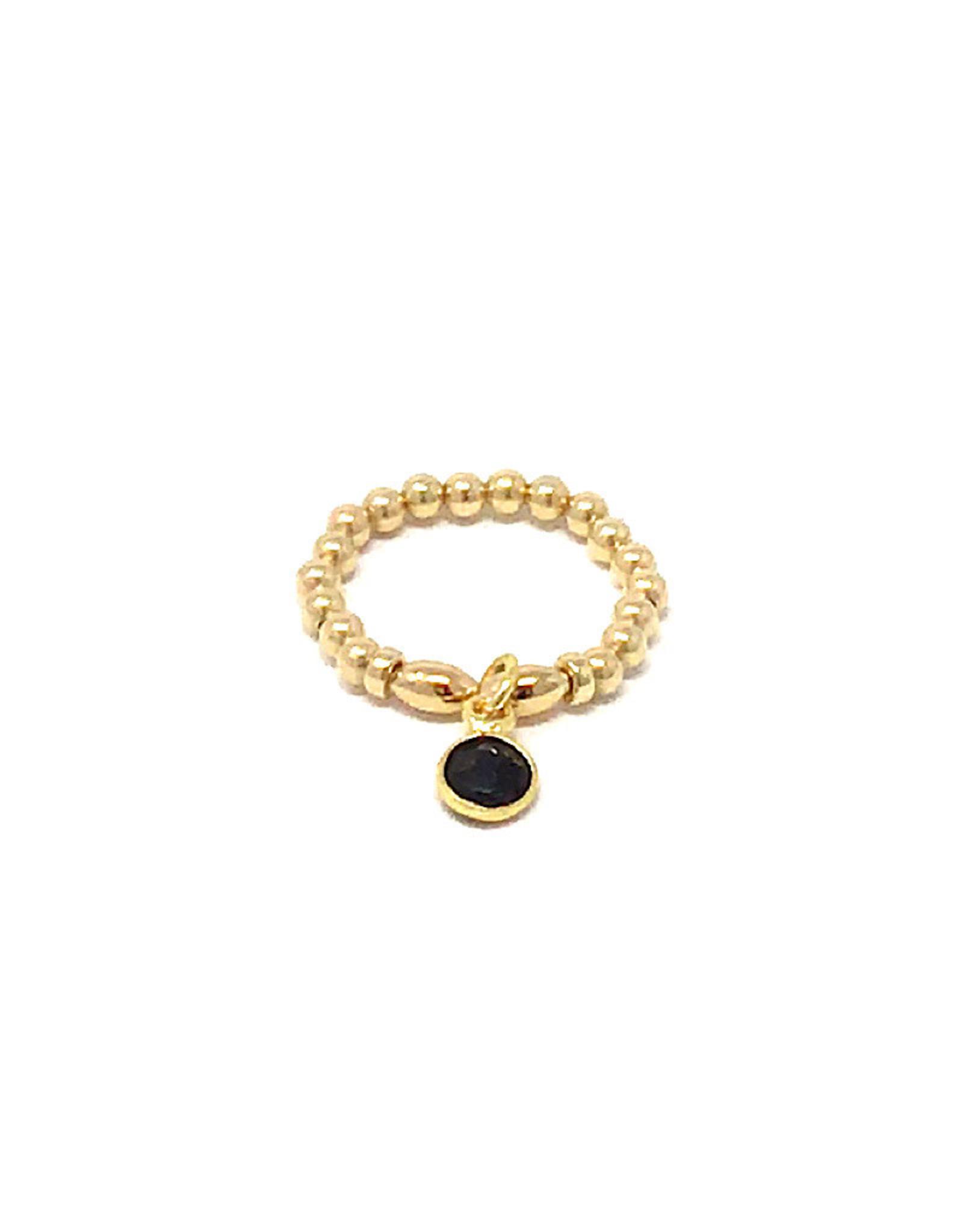 Beblue beblue Gold Ring with black pendant