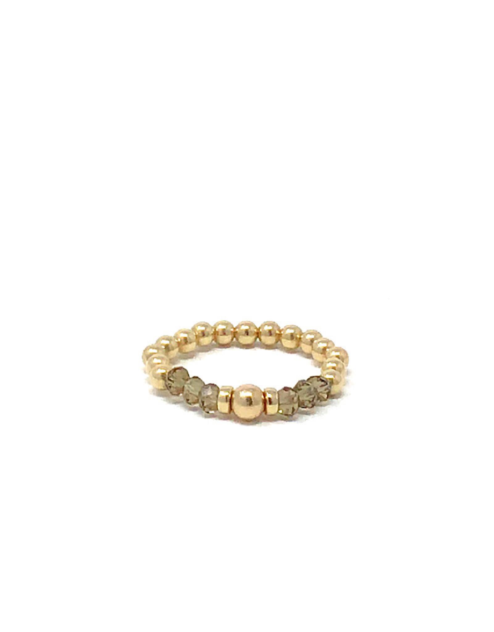 Beblue beblue Ring Gold & Grey