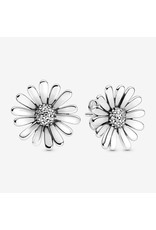 Pandora Pandora Daisy Sterling Silver Stud Earrings With Clear CZ