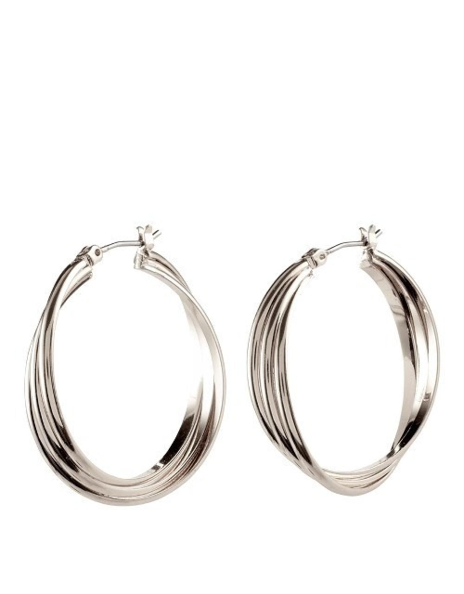 Pilgrim Pilgrim Earrings Jenifer Silver Hoops
