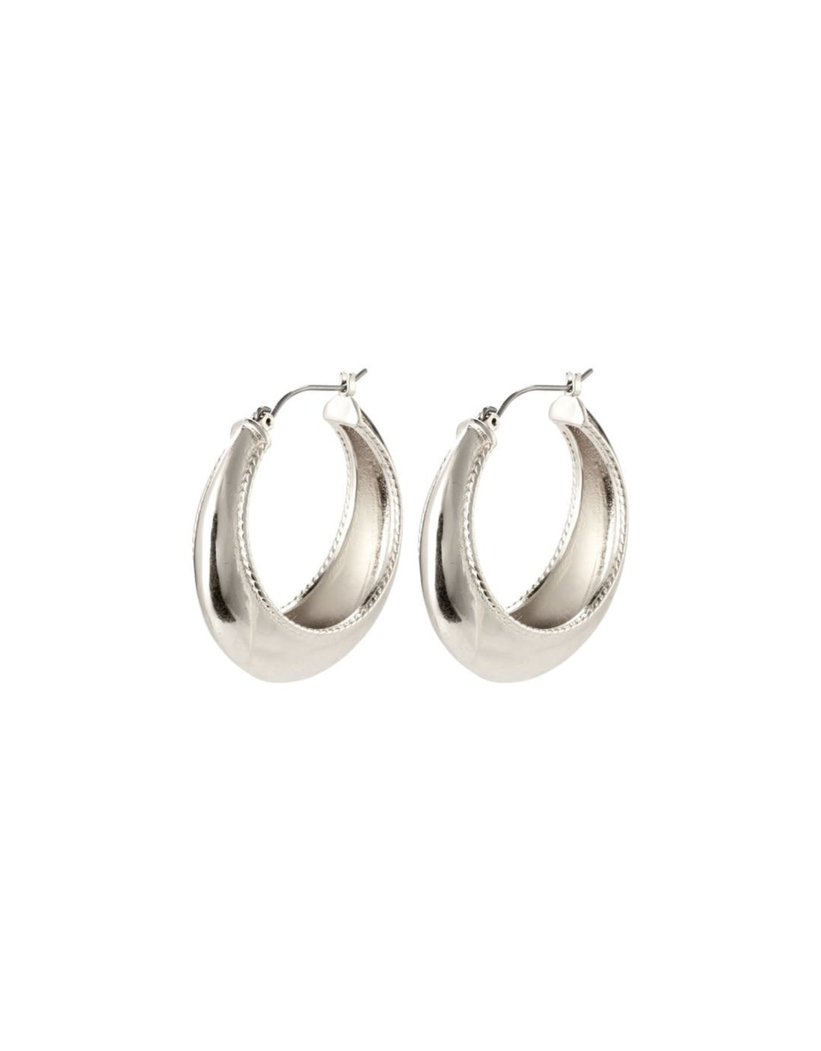 Pilgrim Pilgrim Earrings Silver Basket Hoops