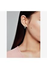 Pandora Pandora Beaded Hoop Earrings In Sterling Silver