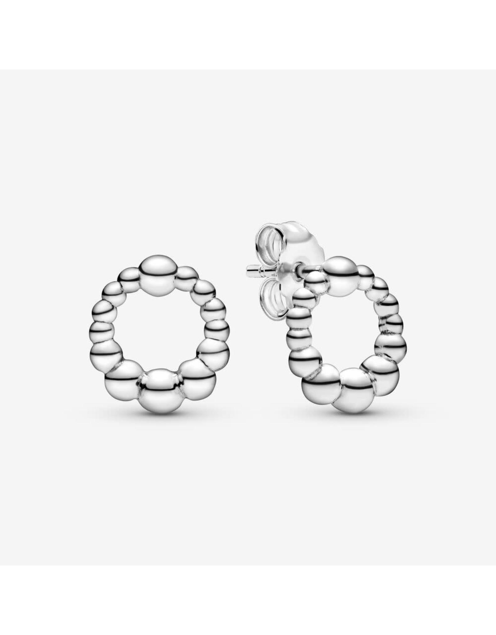 Pandora Pandora Beaded Sterling Silver Stud Earrings