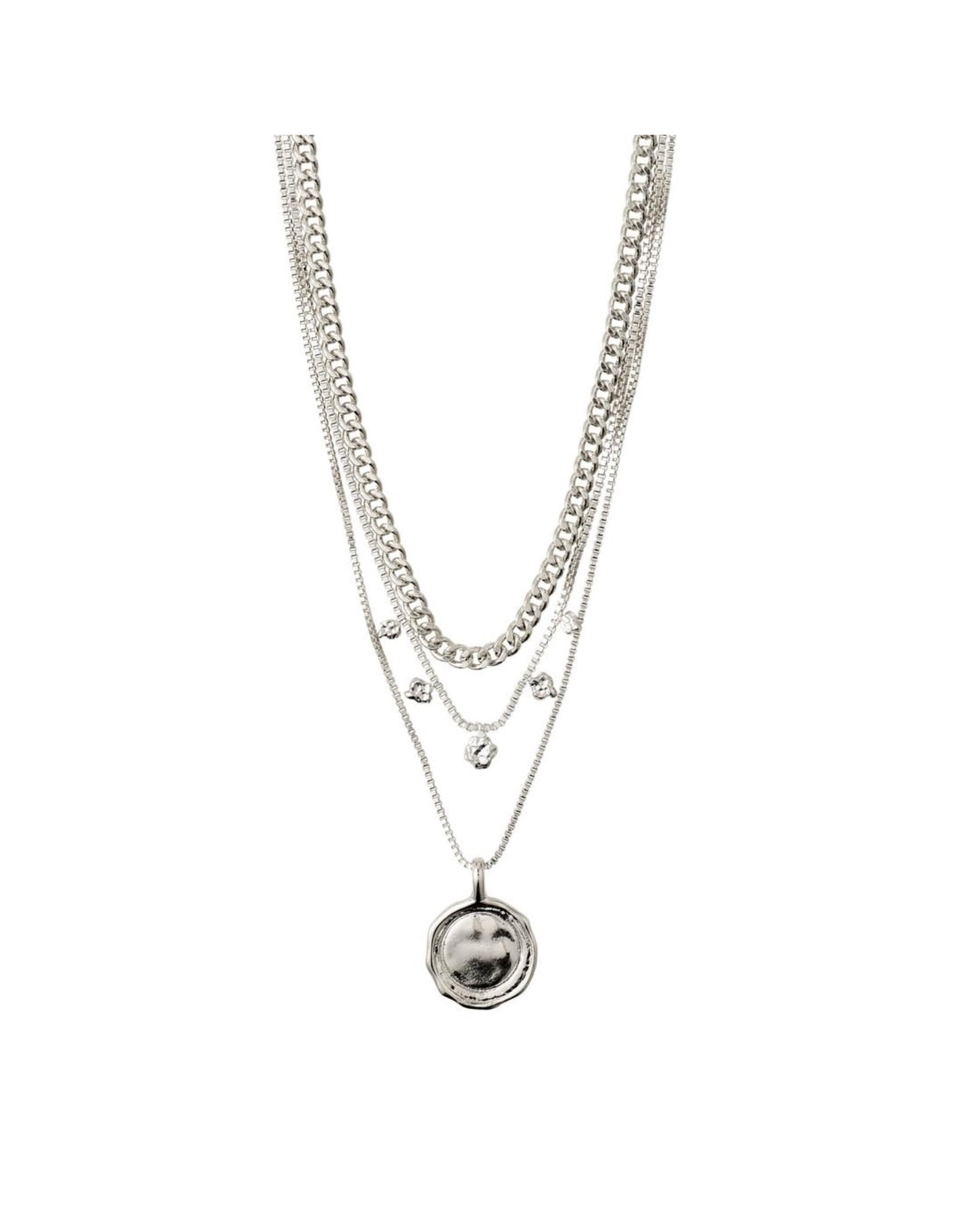 Pilgrim Pilgrim Necklace Air silver set