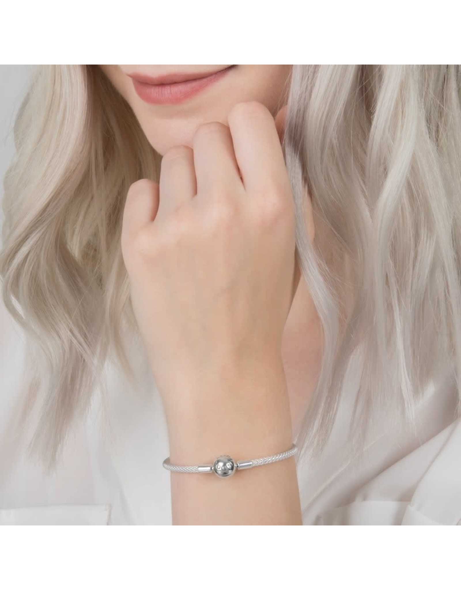 Pandora Pandora Bracelet, 586543, Mesh With Titanium Core