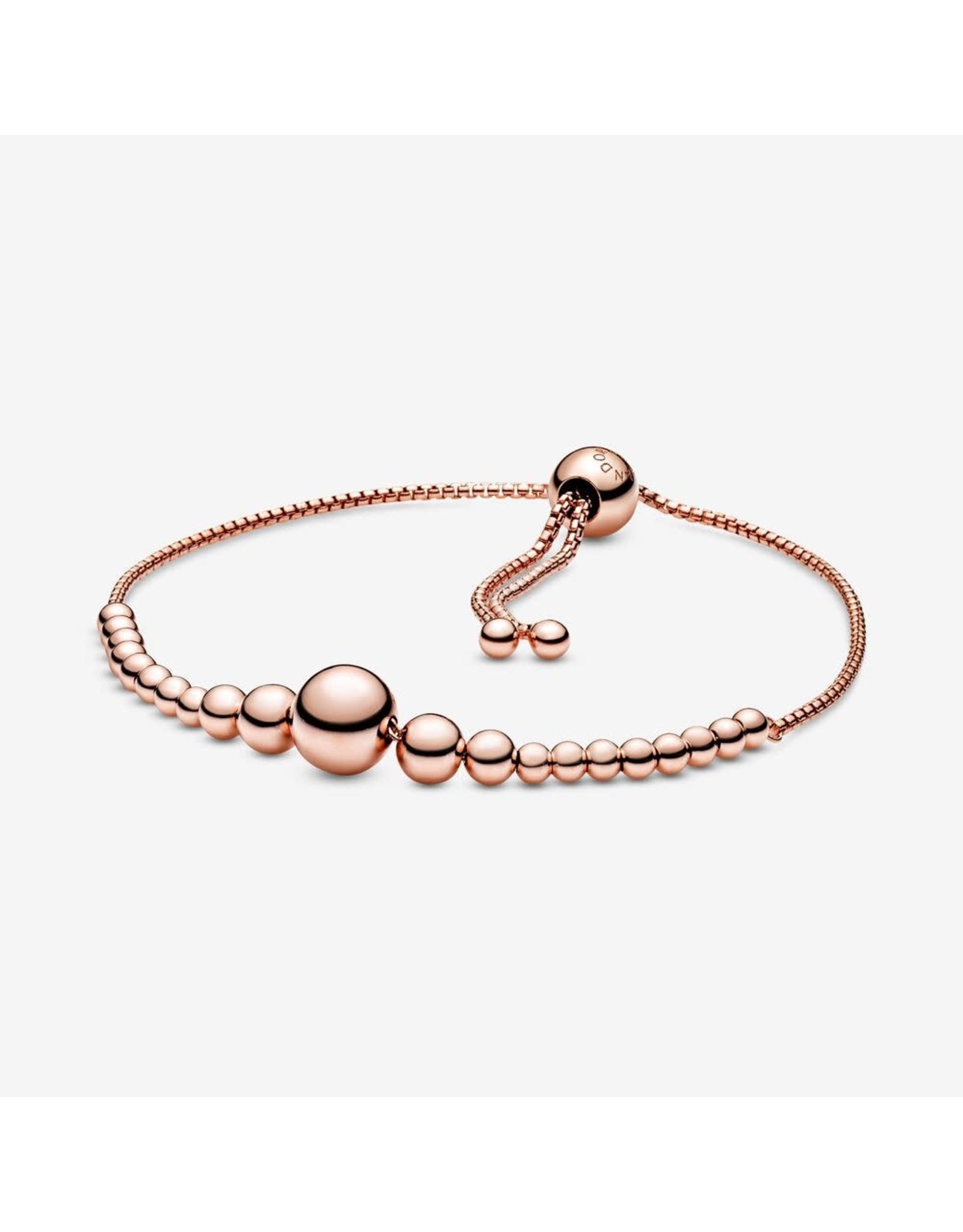 Pandora Pandora Bracelet,String Of Beads,Slider, Setrling Silver