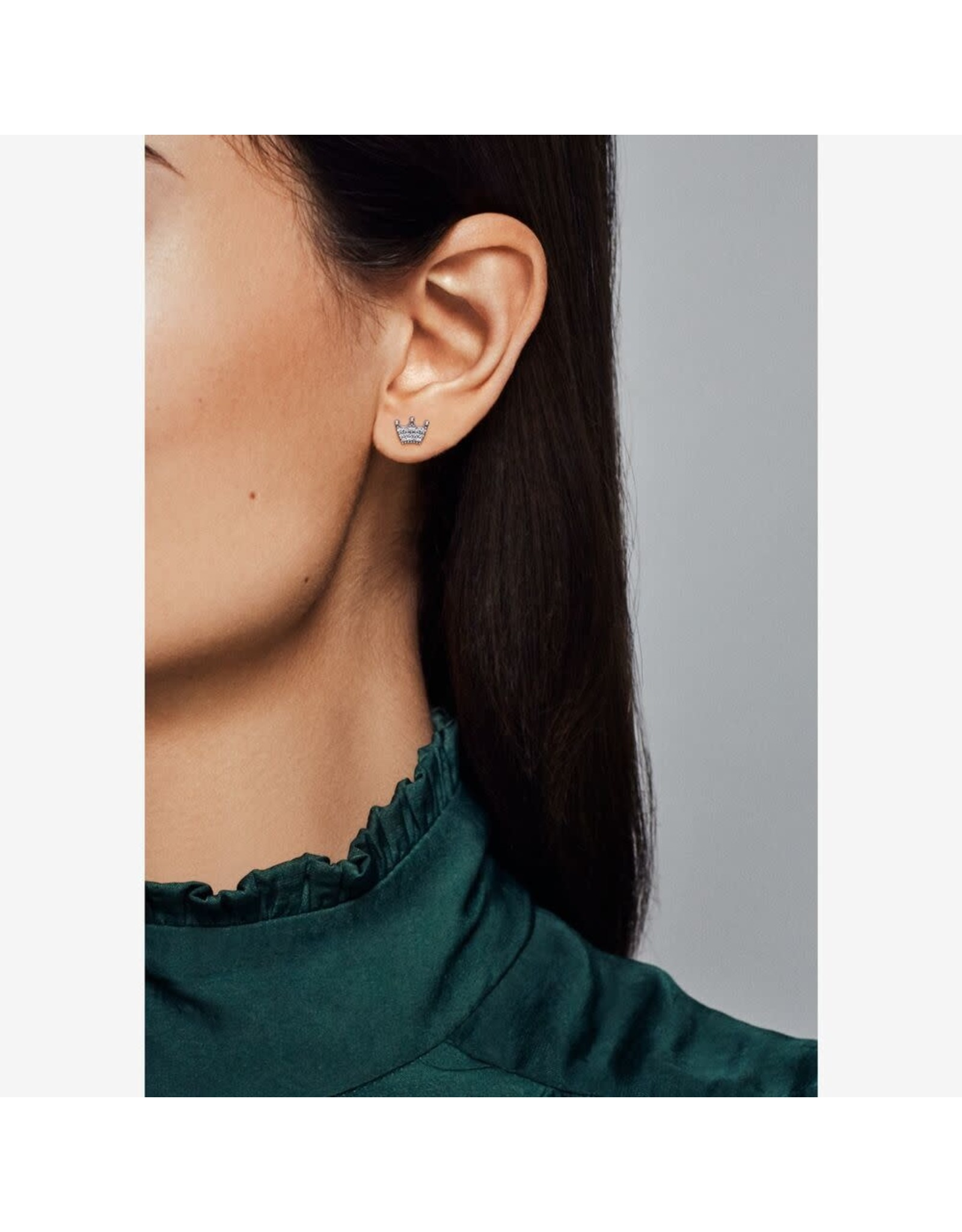 Pandora Pandora Earrings,297127CZ, Crown Stud