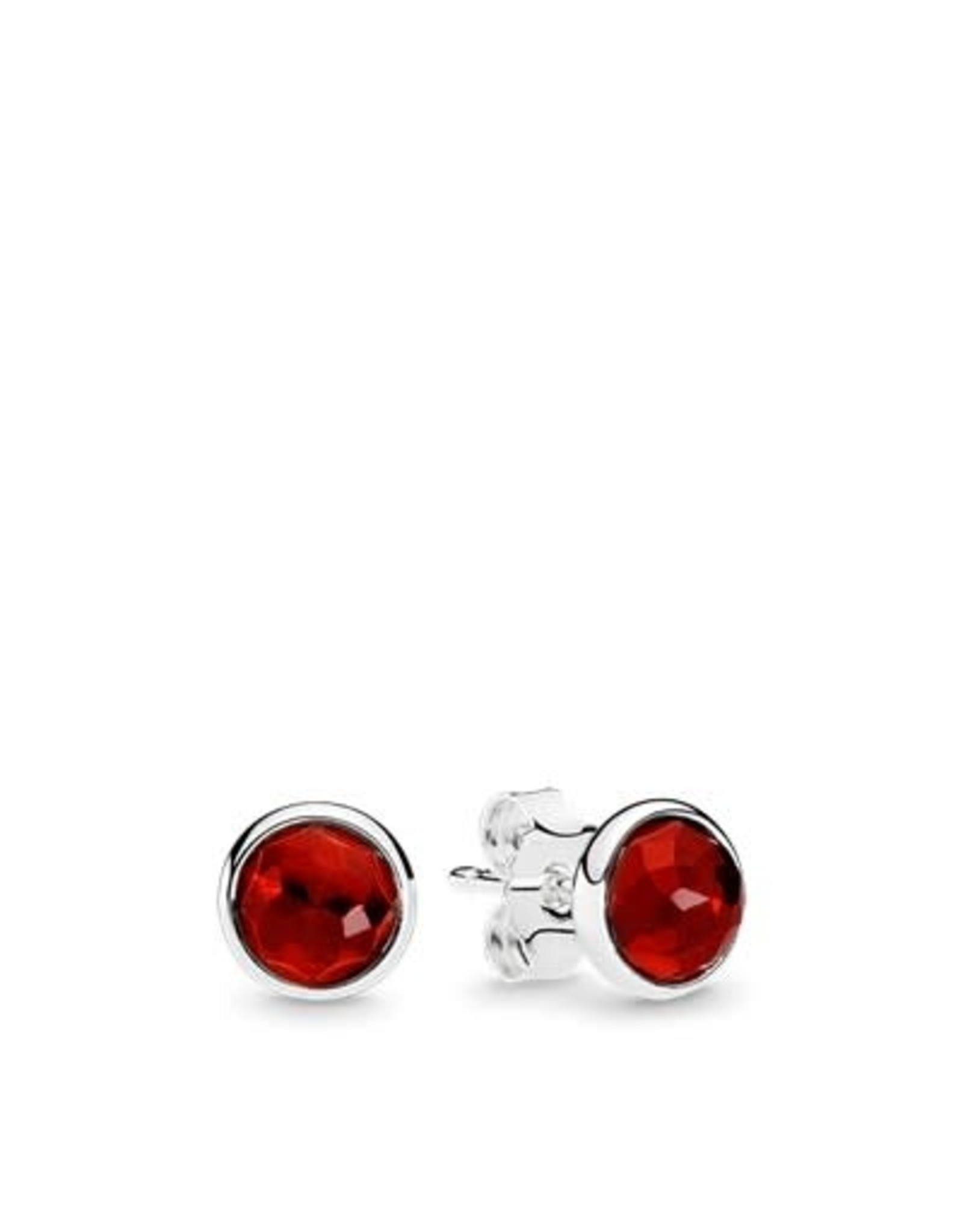 Pandora Pandora Earring Studs July Droplets With Synthetic Ruby