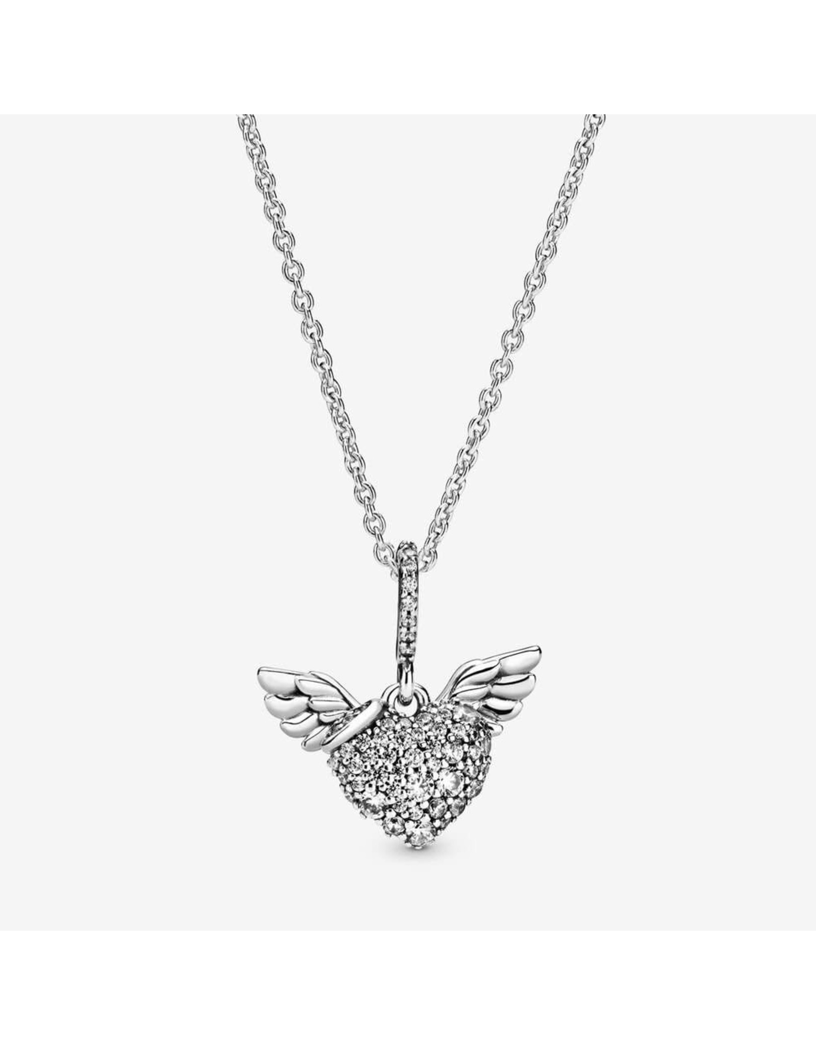 Pandora Pandora Necklace, 398505C01-45, Heart And Wings, Sterling Silver 45 cm
