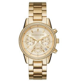 Michael Kors Watch Chronograph Ritz Stainless Bracelet Gold