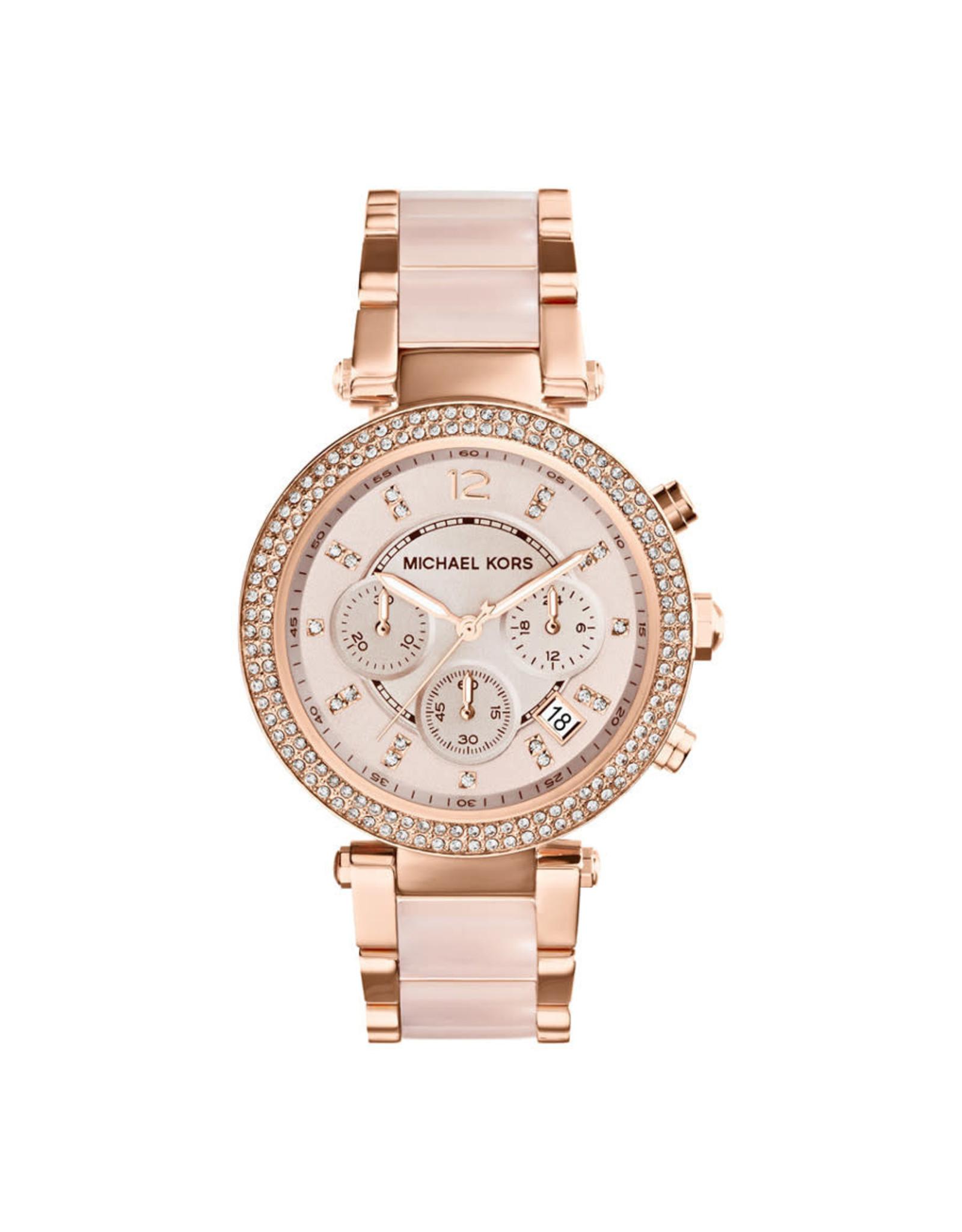 Michael Kors Watch Parker Chronograph Rose Gold