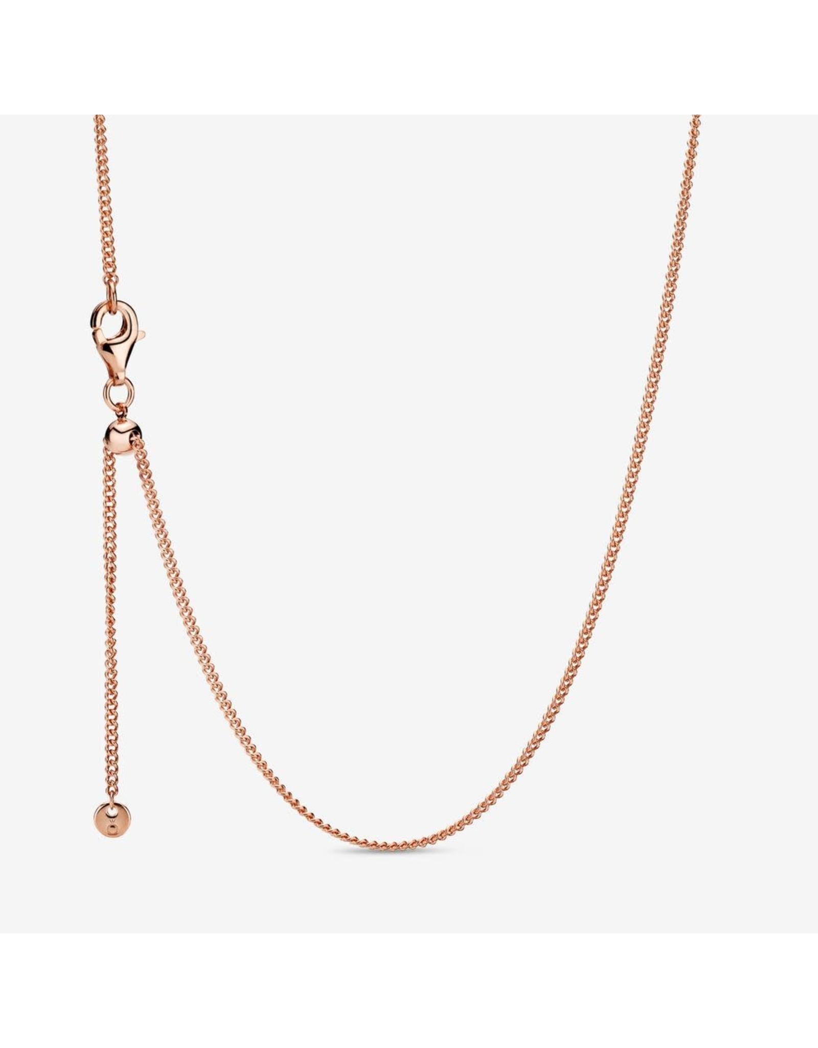 Pandora Pandora Rose Gold Necklace With Sliding Clasp 60 cm