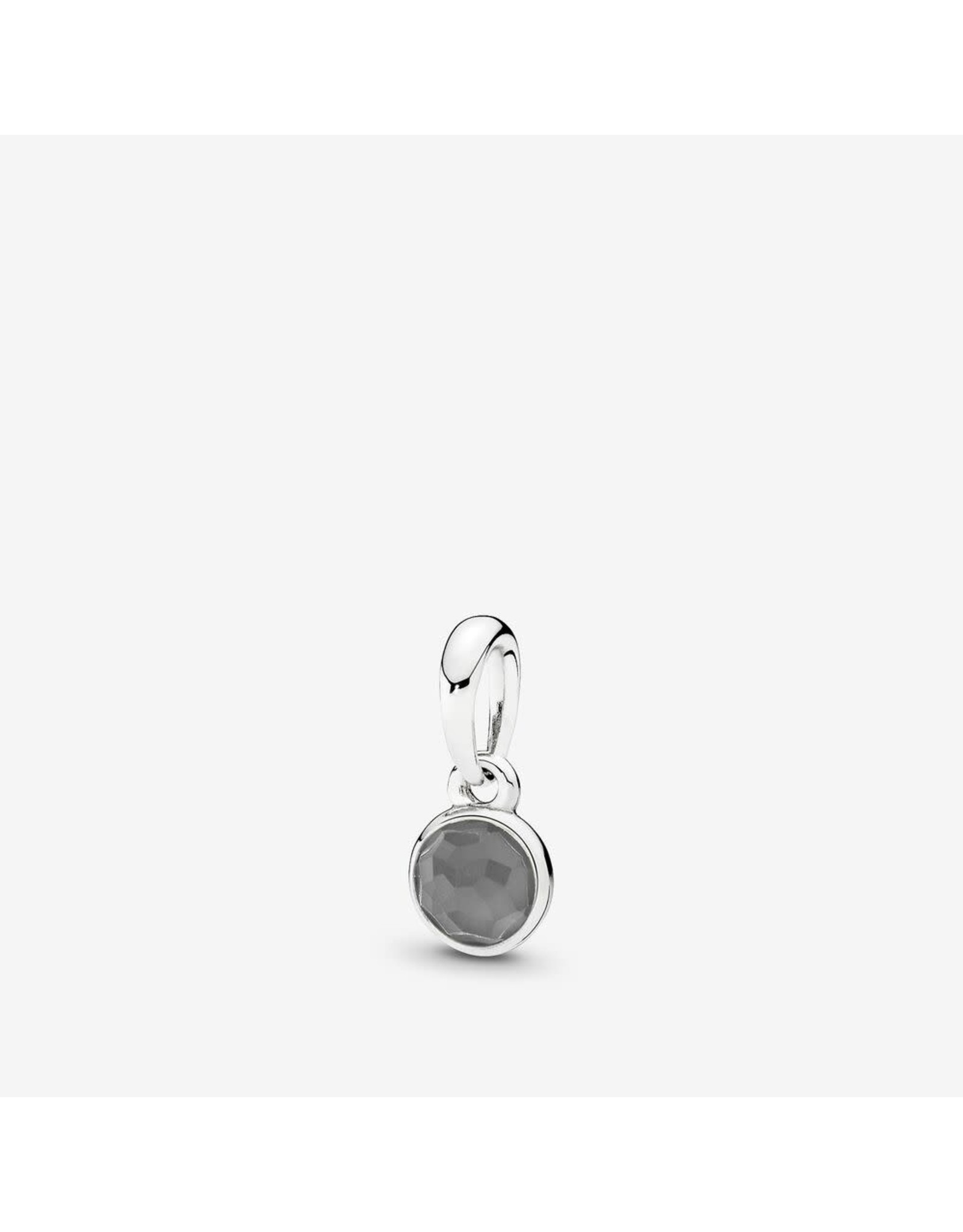 Pandora Pandora Pendant June Droplet With Grey Moonstone