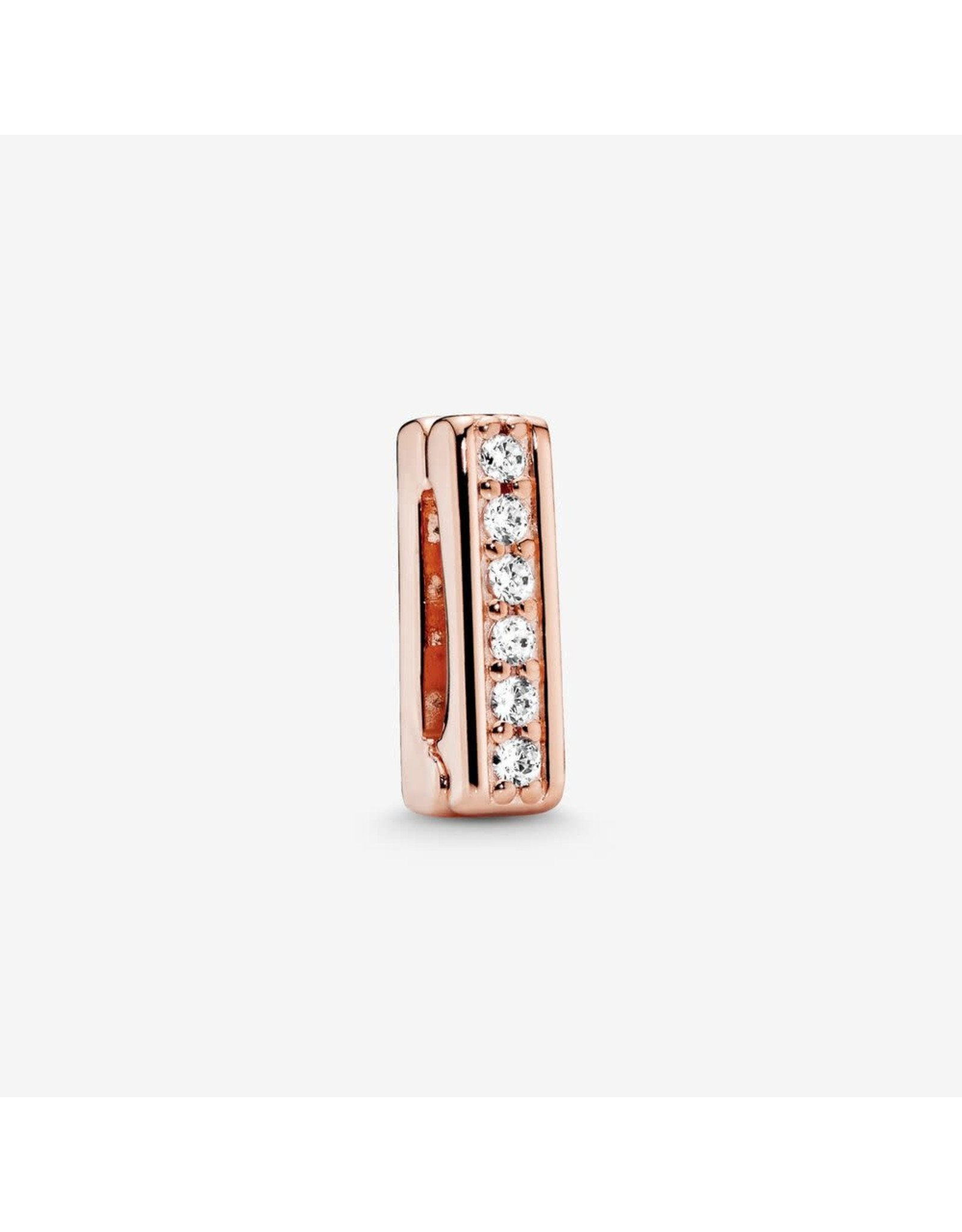 Pandora Pandora Reflexions Clip Charm In Rose Gold With 6 Bead-Set Clear CZ